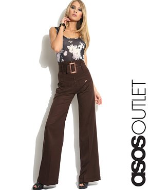 Miss Sixty | Miss Sixty High Waisted Trousers at ASOS :  womesn clothing girls pants high waist pants wide leg trousers