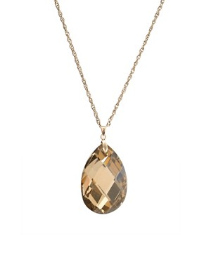 ASOS | ASOS Long Faceted Tear Drop Pendant at ASOS :  drop asos at faceted