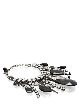 ASOS | ASOS Faceted Teardrop Stone Encrusted Bracelet at ASOS :  asos bracelet at encrusted