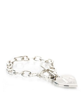 Lipsy | Lipsy Silver Link Heart T Bar Bracelet at ASOS :  link lipsy t bar