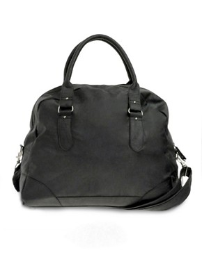 ASOS Black Leather Look Holdall