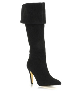 J Lo | J Lo Suede Over The Knee Heeled Boots at ASOS