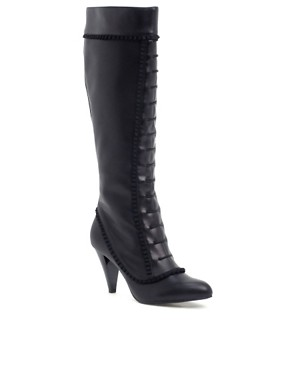 Killah | Killah Frill Detail Knee High Boots  :  knee high boot fashion black