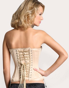 Vollers Gold Satin Corset from asos.com