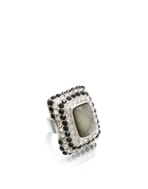 ASOS | ASOS Large Set Stone Encrusted Ring at ASOS :  set large asos at