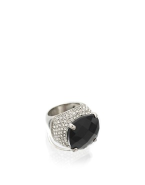 ASOS | ASOS Large Stone Ring With Encrusted Surround at ASOS :  with large asos surround