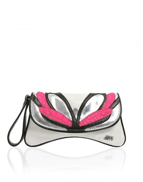 Miss Sixty | Miss Sixty Neon Butterfly Clutch at ASOS :  chic womens accessories clothing womens clothing