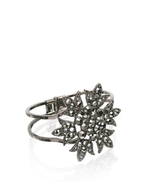 Oasis | Oasis Flower Stone Clamp Bangle at ASOS :  oasis bangle flower clamp