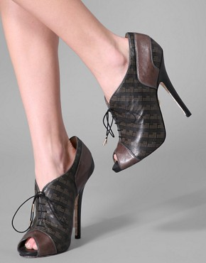 L.A.M.B. Lace Front Peep Toe | at ASOS :  platform heels lace up shoe boots