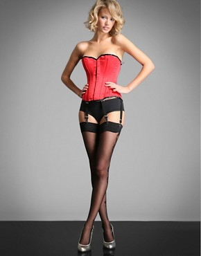 Vollers Red Satin Corset at ASOS from asos.com