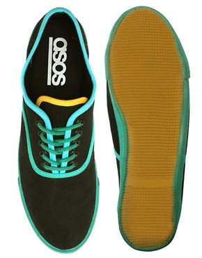 ASOS Contrast Binding Plimsolls