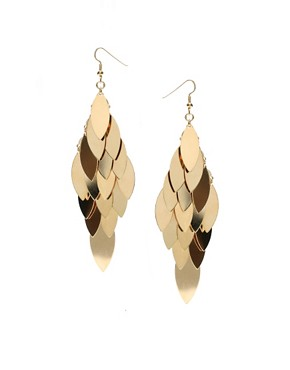 ASOS | ASOS Tiered Leaf Shape Earring at ASOS :  earring asos tiered leaf