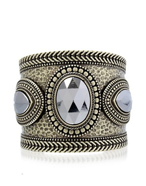 Oasis Byzantium Stone Cuff at ASOS :  gemstone jewelry cuff jewellery