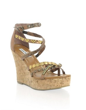 Steve Madden | Steve Madden Embellished Cork Wedge Sandal at ASOS