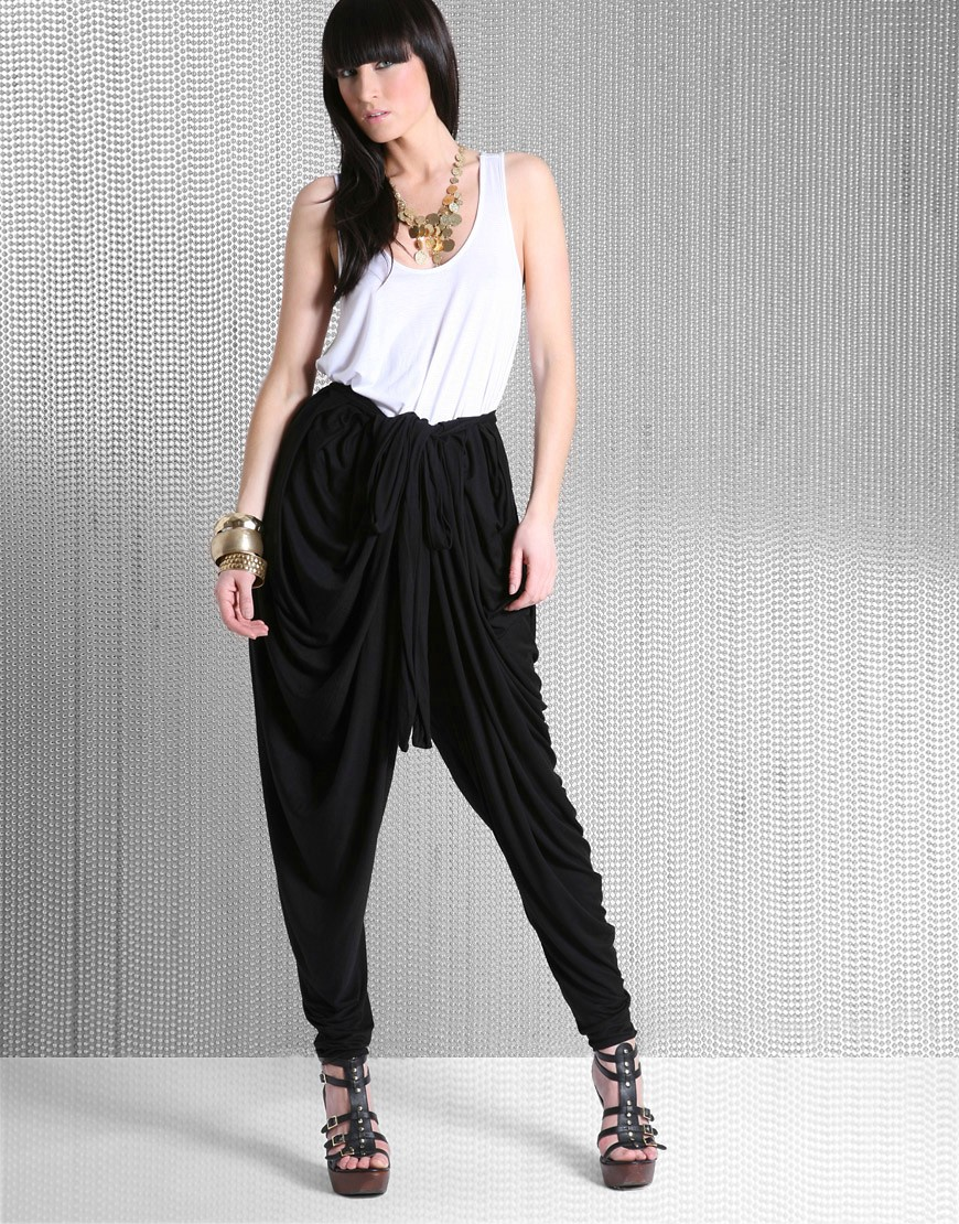 Fashion Enter | Meem Wrap Harem Pants at ASOS :  chic occasions fabulous womens clothing