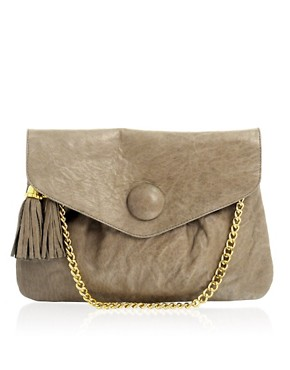 ASOS | ASOS Washed Leather Envelope Clutch at ASOS :  stylish purses style trends