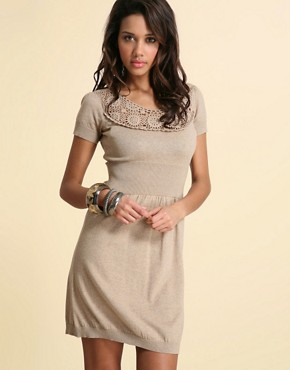 Premium Crochet and Knit Dress at ASOS from asos.com