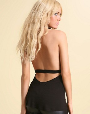 Killah | Killah Backless Jersey Waisted Top at ASOS :  stylish designer sexy backless