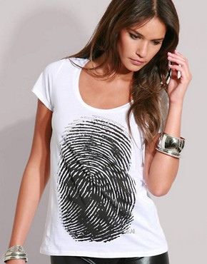 Kookai | Kookai Finger Print Tee at ASOS :  shirt pop art print tshirt