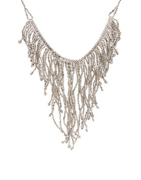 Oasis Tassel Ball Chain Necklace at ASOS :  necklace oasis statment chain