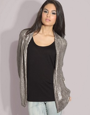 Sequin Boyfriend Blazer
