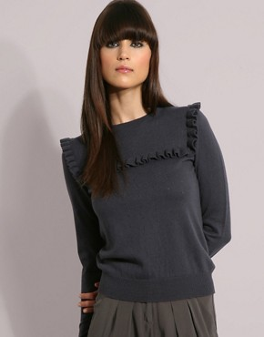 YMC Cotton Cashmere Frill Sweater at ASOS from asos.com