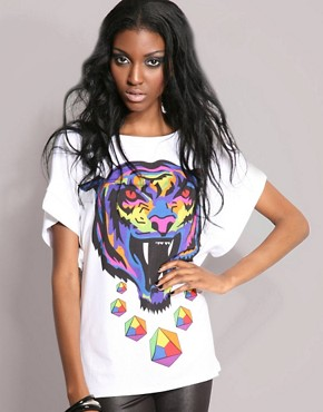 Leopard | Leopard Tiger Print Tee at ASOS :  tiger top asos leopard
