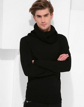 Unconditional Fine Knit Heavy Funnel Neck Jumper