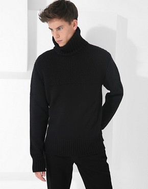 McQ By Alexander McQueen Chunky Roll Neck Jumper