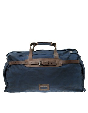 Diesel Stronger Canvas And Leather Holdall