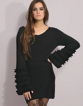 Peoples Market | Peoples Market Ruffle Sleeve Long Knit Dress at ASOS from asos.com