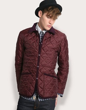 Lavenham Slim Fit Cord Trim Quilted Jacket