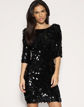  All Over Sequin Dress  :  black dress mini dress sexy dress sequin dress