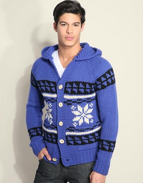 ASOS Ltd 1 of 100 Hooded Hand Knit Cardigan