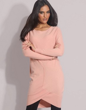 ASOS | ASOS Fluffy Seam Tunic at ASOS :  cashmere jumper fluffy peach