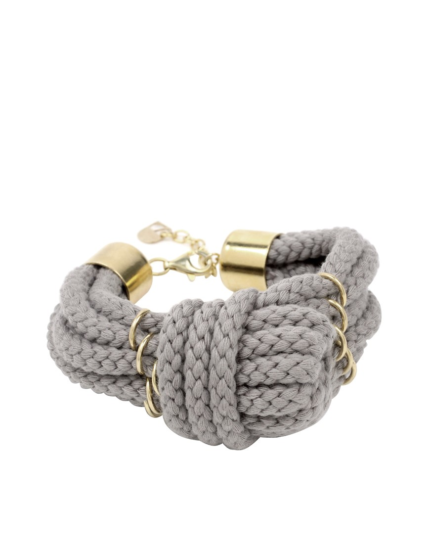 Sabrina Dehoff | Sabrina Dehoff Six Wrap Cord Knot Bracelet at ASOS :  bracelet