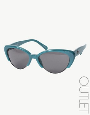 Luella Coloured Cat's Eye Sunglasses :  glamour eyes sunglasses retro