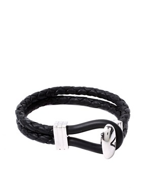 Seven Double Leather Loop Clasp Bracelet