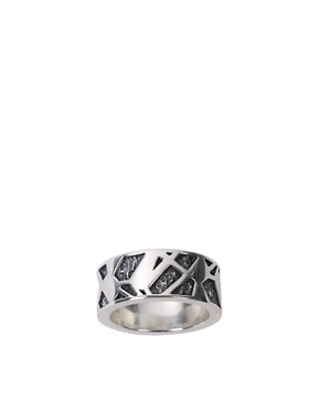 Seven Sterling Silver Cut-Out Ring