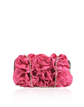 Suzy Smith | Suzy Smith Satin Rose Clutch and Chain at ASOS :  women womens clothing satchel hobo