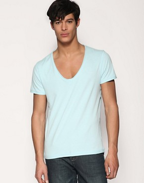 ASOS Distressed V-Neck T-Shirt
