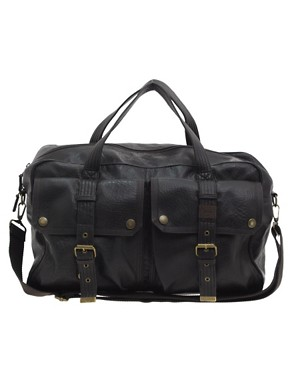 Ted Baker Stitched Washed PU Holdall